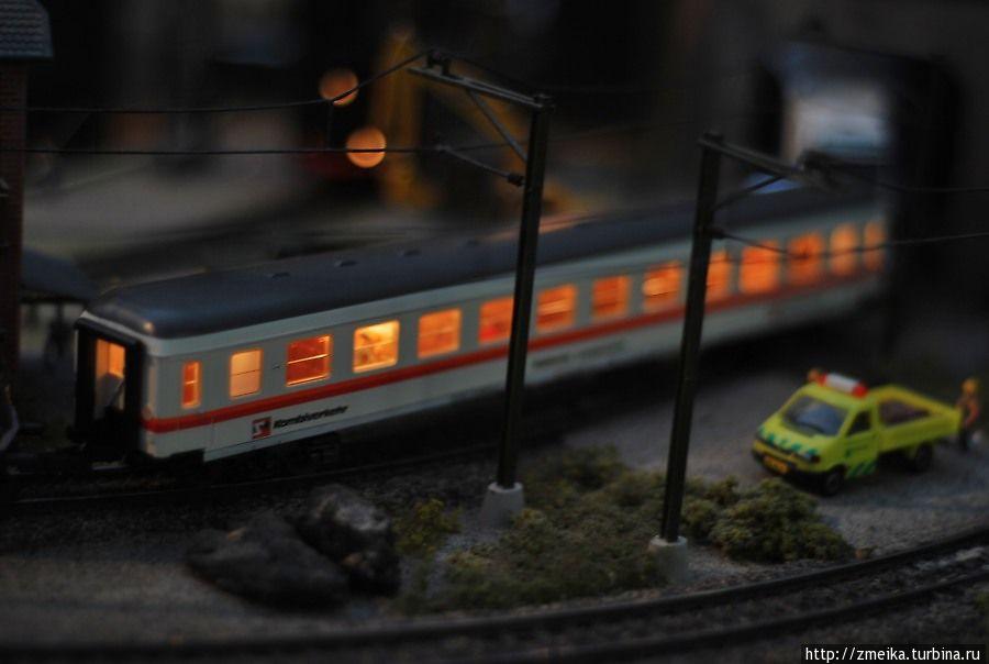 Приятные огни поезда