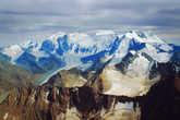 массив Белухи с вершины Ак-Оюк, на которой мы были 2 годами ранее. (2 года назад были на вершина Ак-Оюк, восхождение на Белуху было совершено в этом году.)
