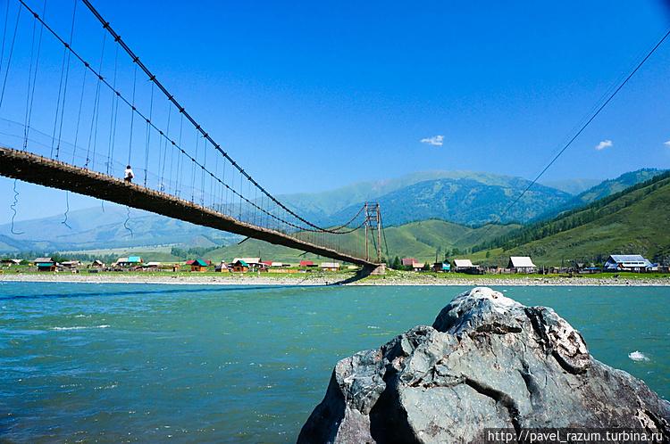 Река Катунь, посёлок Тюнг