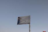 Флаг Танзании на пике Социалист- вершине вулкана Меру.