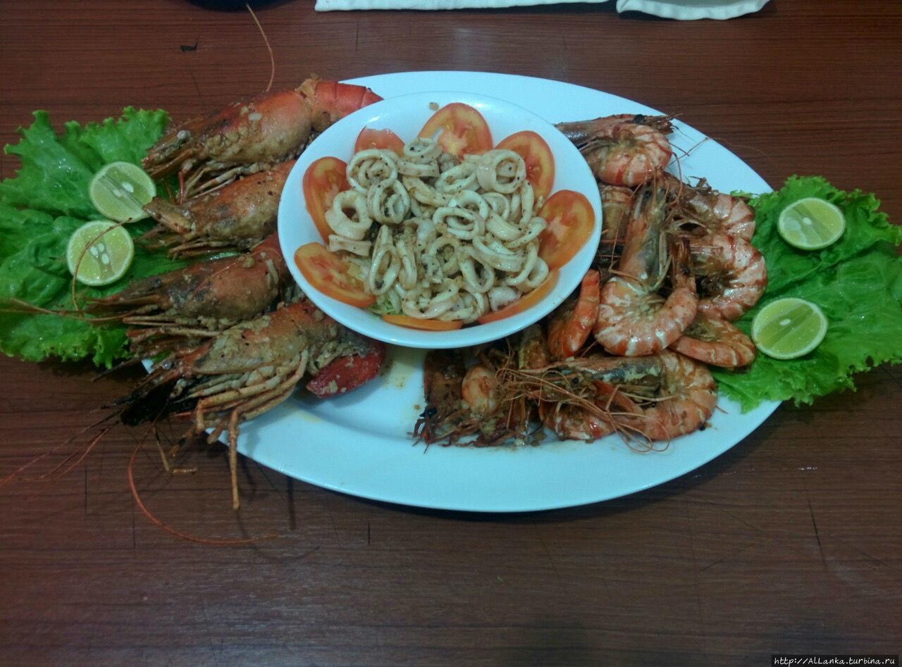 Тарелка морепродуктов