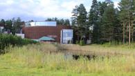 Здание Lusto со стороны экспозиции лесосплава