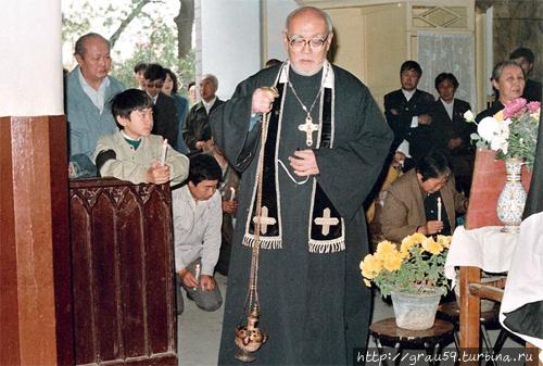 Последний китайский священник Пекина протоирей Александр Ду (скончался в 2003 году). Фото из архива Киры Поздняевой