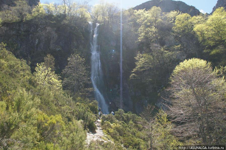 Tarna -Cascada с обледенением.. Водопад  Tabayon.. Инфиесто, Испания