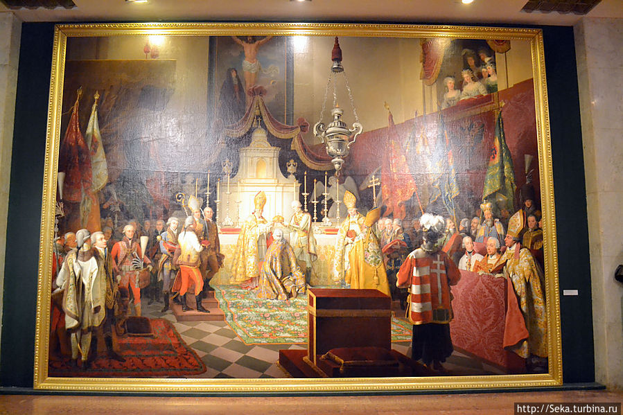 Иоганн Петер Крафт. Коронация Франциска I королем Венгрии в Буде, 1823