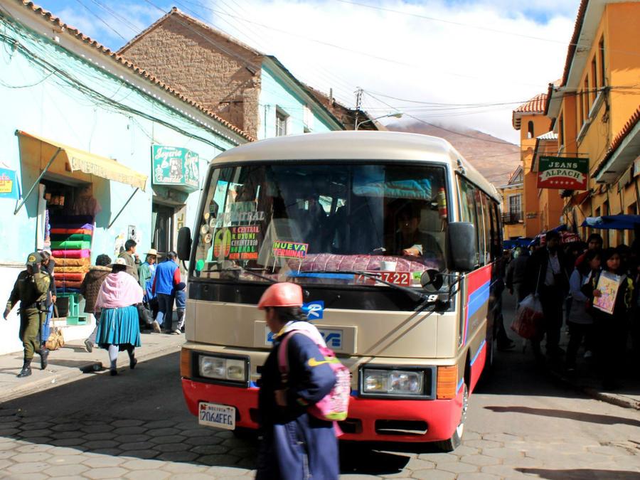 городской автобус из центра к автовокзалу  (