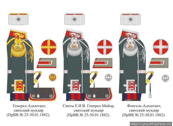 Мундиры членов Свиты (фото из Интернета)