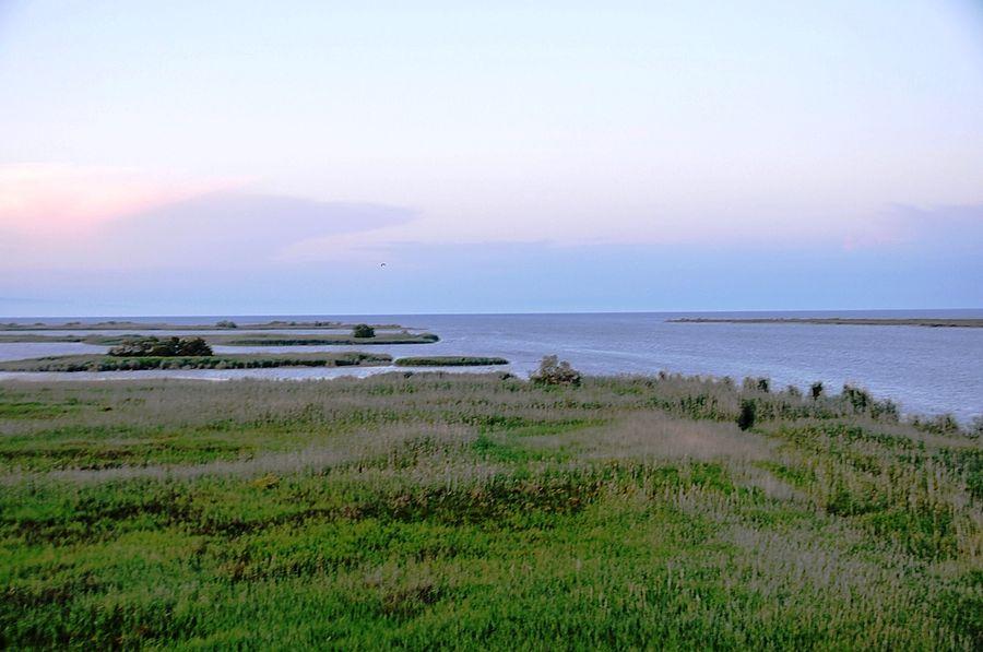 Место, где река Эбро впадает в Средиземное море.
