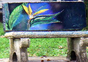 Расписные скамейки