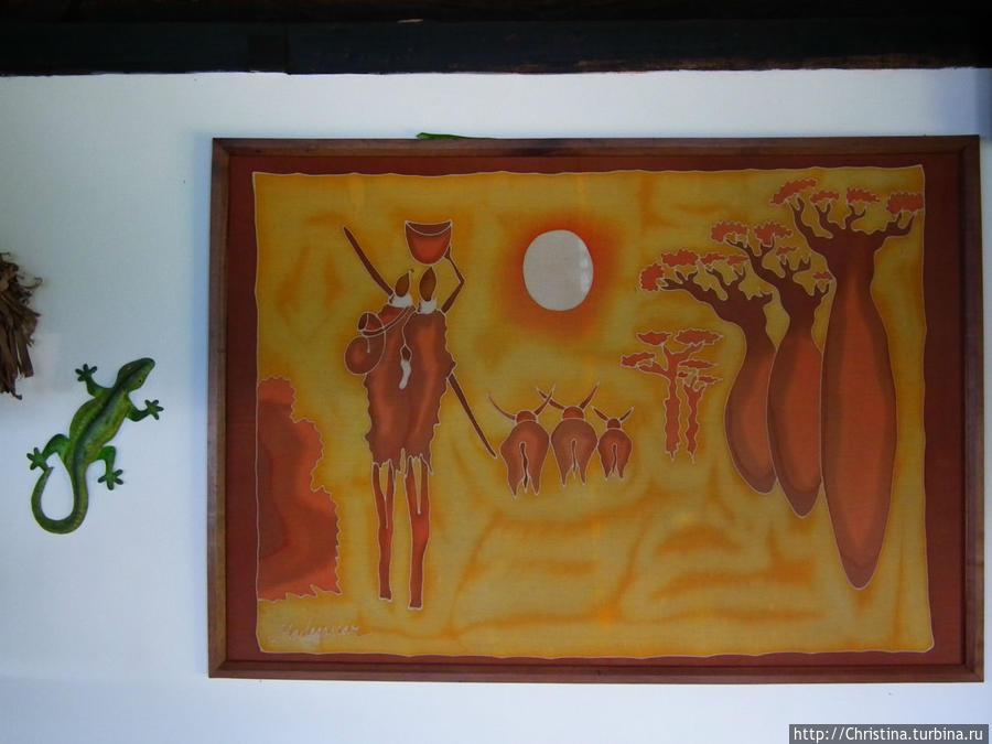 Вот еще одна картина — представительница живописи малагаси.  Не плохо, правда?   По мне так эта явно живее, чем квадрат Малевича....