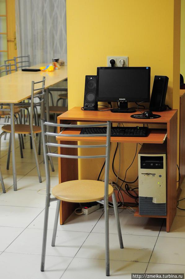 На кухнях есть компьютеры