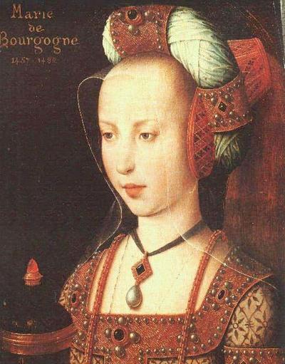 Выглядеть наша красавица должна была приблизительно так (прошу прощение за низкое качество портрета, но ни одной фотографии дам XV века в моем архиве не сохранилось).
