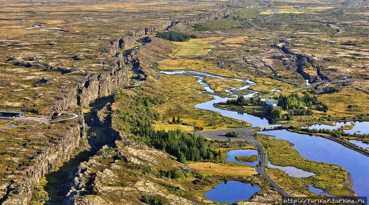 Вид долины с вертолета (и