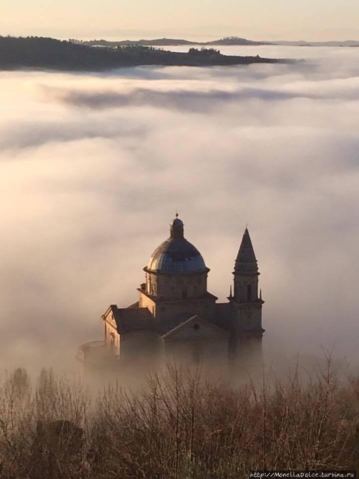 Монтэпулчиано: базилика Сан Биаджо Монтепульчано, Италия