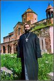 Духовный отец настоятель Одзунской церкви, отце Тер Вртанесе Багаляне. Фото Левона Бахшяна.