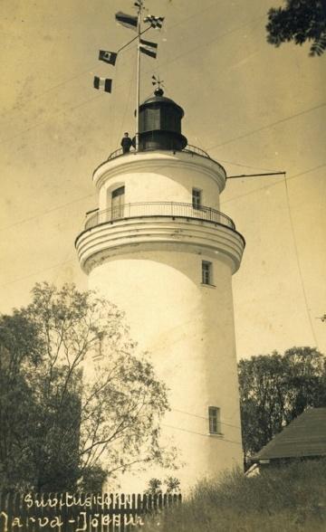 В 1930-х годах на маяке установили радиомачту. . Фото с сайта http://www.etts.ee