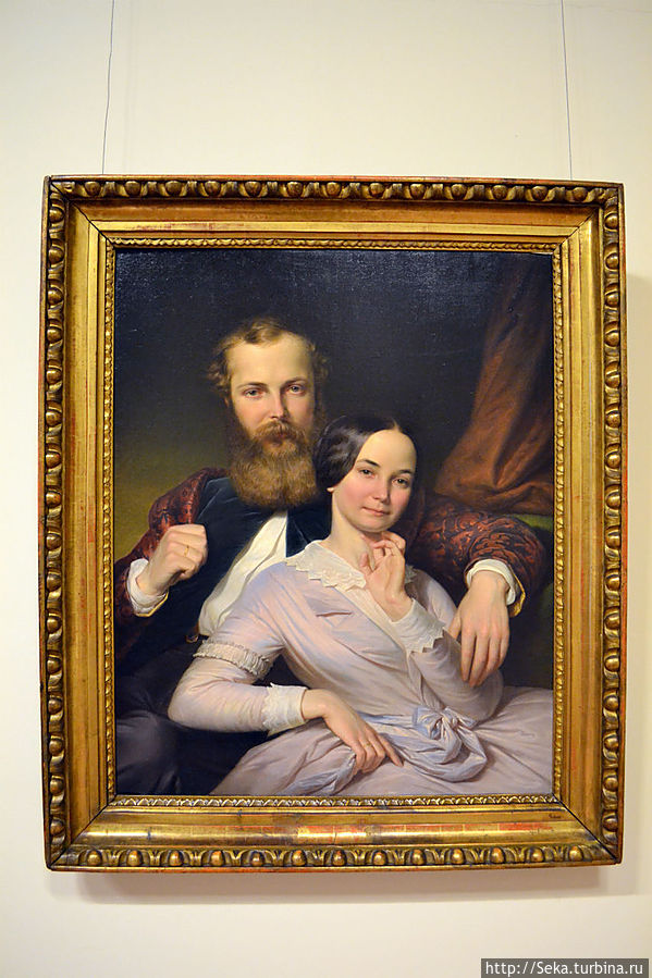 Хенрик Вебер. Композитор Михай Мошоньи и его жена, 1840