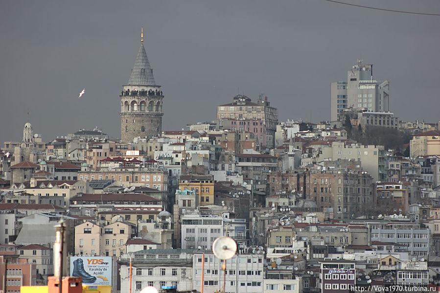 Панорама с Галатской башней. Вид со стороны района Сиркеджи.