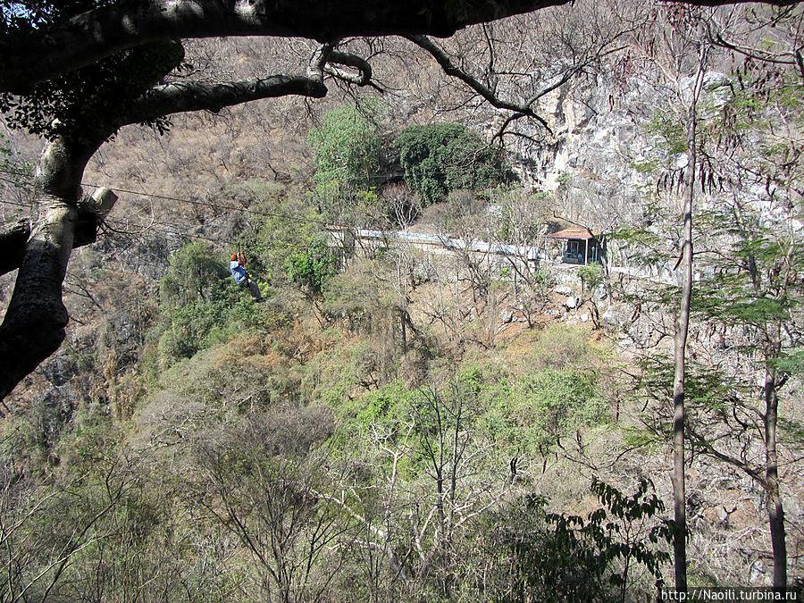 Рядом с пещерами можно найти некоторые развлечения, вроде тиролесы.
