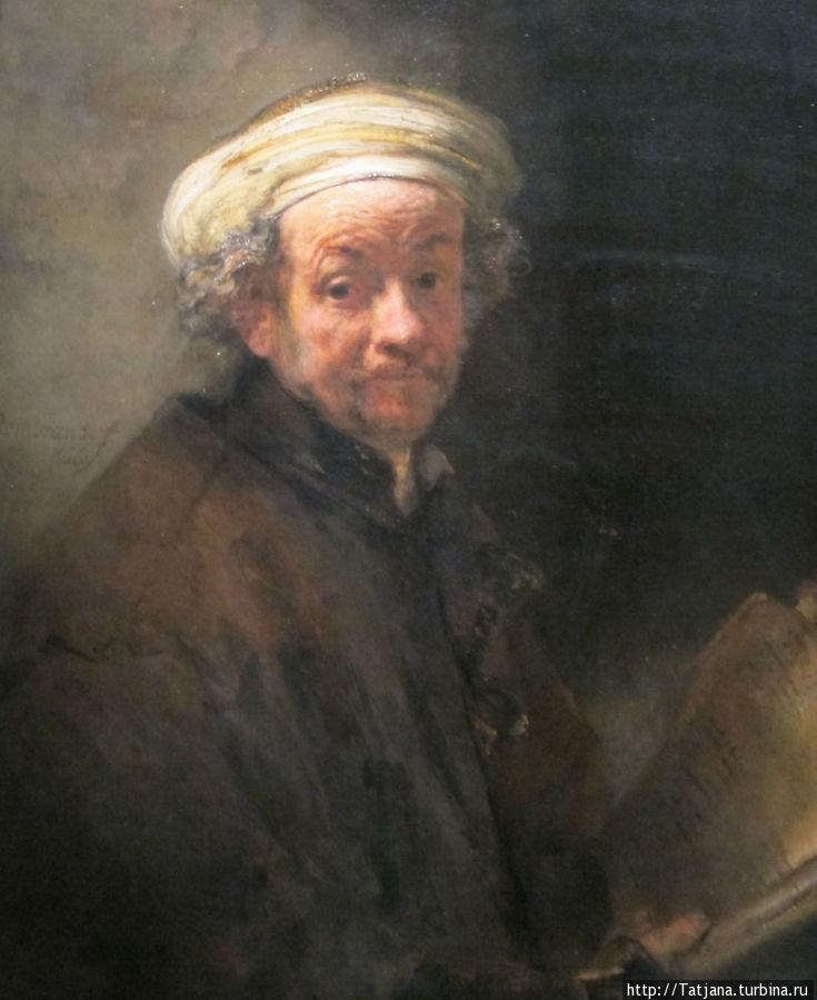 Рембрант -автопортрет