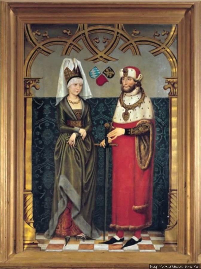 Людвиг II Строгий  (1229 — 1294)  , герцог баварский,  с супругой Марией Брабантской (1226 -1256). Foto Internet Донаувёрт, Германия