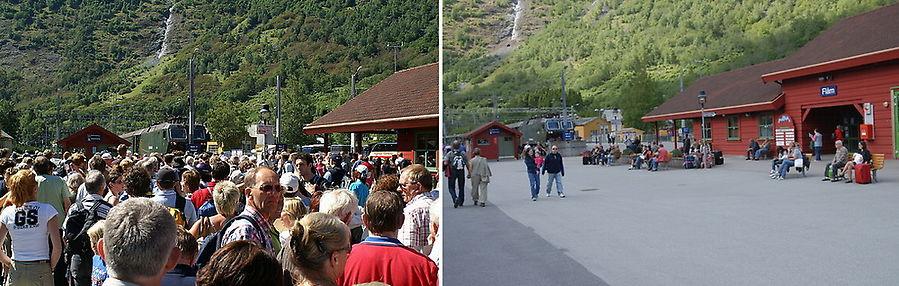 Вокзал Флама до и после обеда. Разница имеется.