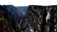 Черный Каньон, Колорадо. Уникальный разрез магматических пород колоссальной глубины.