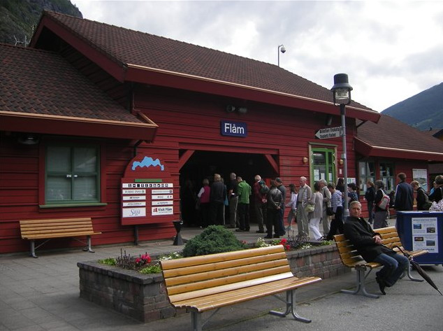 При заезде во Флам берген