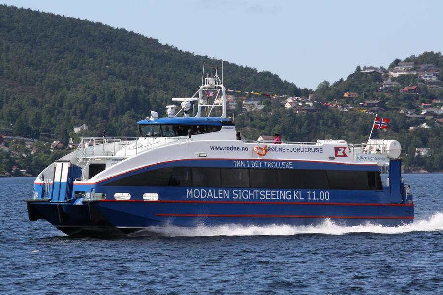 Линию обслуживает M\S Rygercruise Скорость — 34 узла. Вместимость — 97 пассажиров
