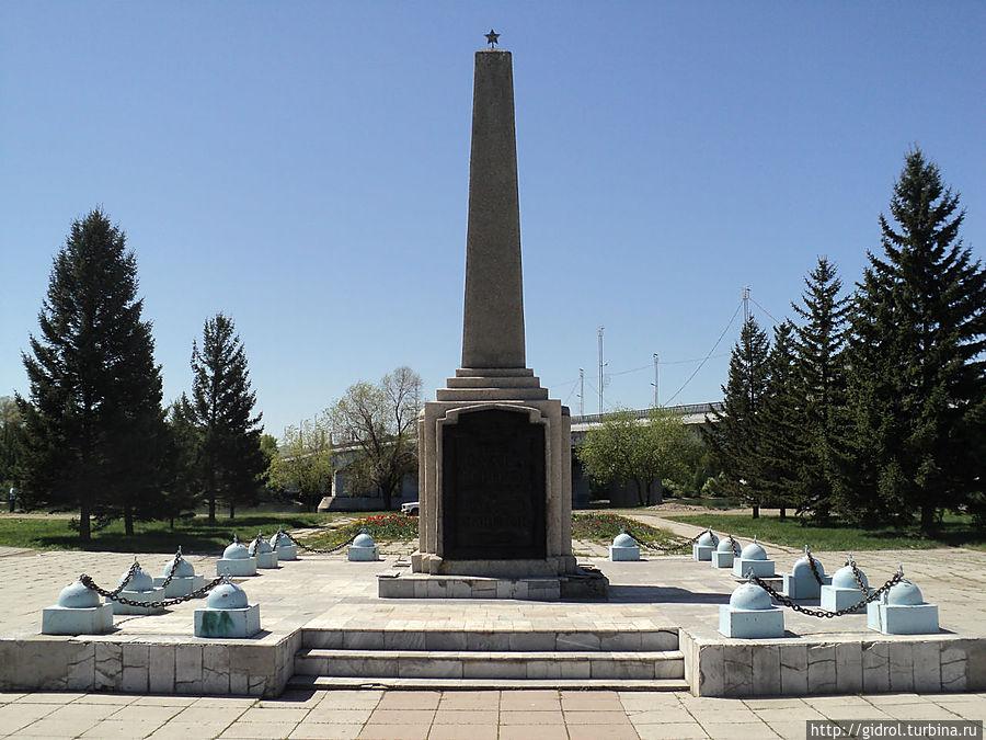 Обелиск павшим за установление советской власти г.Усть-Каменогорска.
