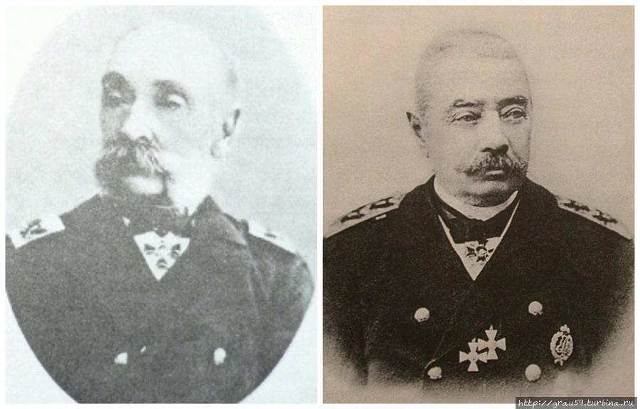 Адмиралы И.О.Дефабр и И.М.Диков
