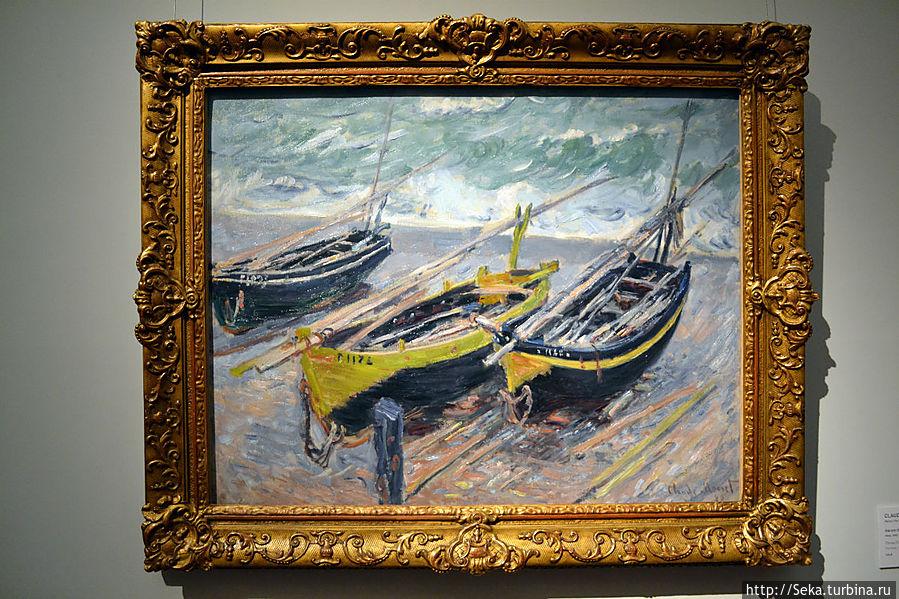 К. Моне. Три рыбацкие лодки.