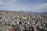 Самый крупный город Боливии Ла-Паз на высоте 4000 м.