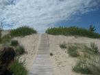 Дорожки к пляжу через дюны