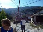 Мы только вышли из автобуса и только вошли в поселение