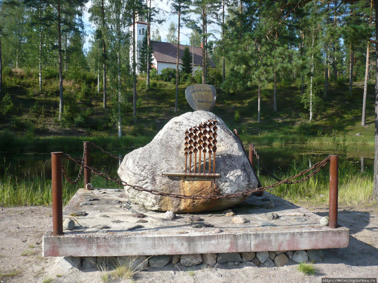 Памятник финской марке Лохилахти, Финляндия