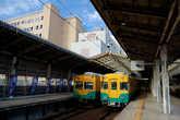 На вокзале Дэнтэцу — Тояма