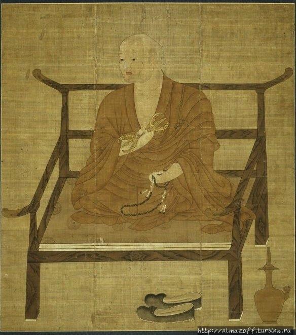 Портрет Кукая. XIV век. Ч