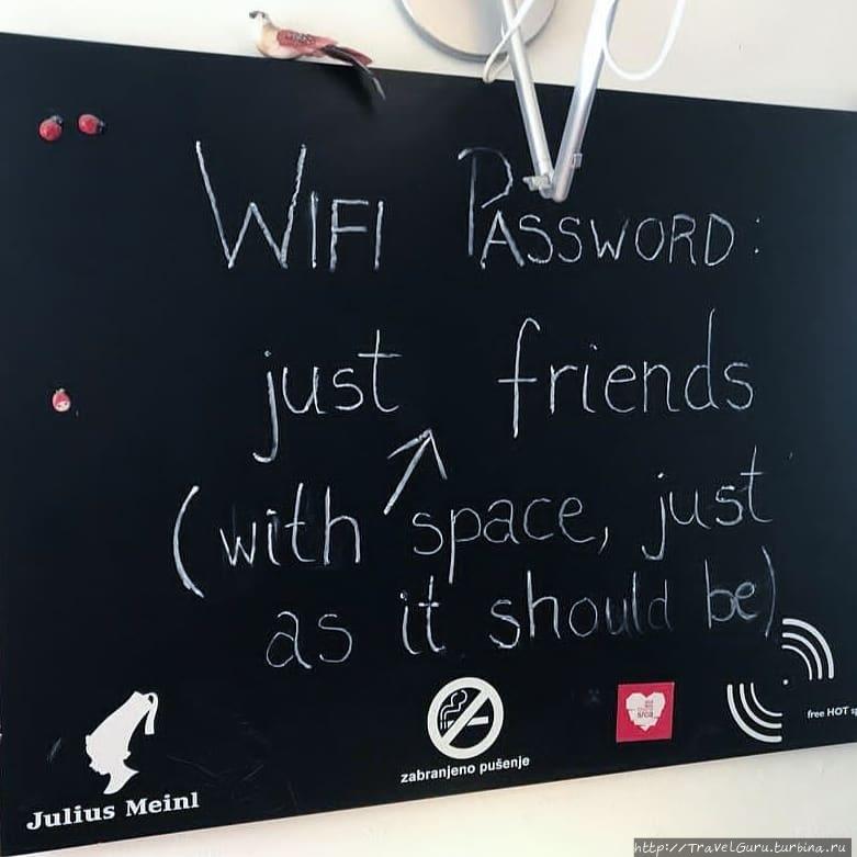 Пароль для Wi-Fi в музее