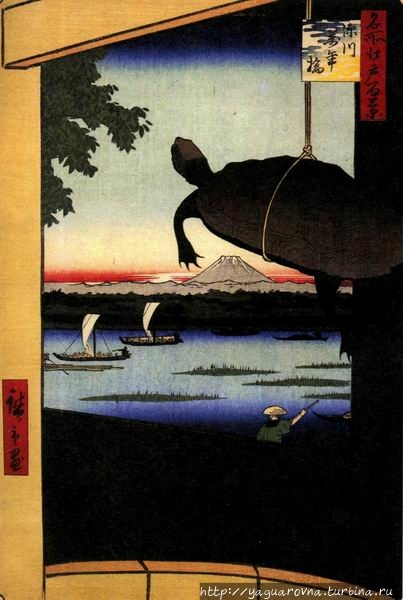 Фукагава Маннэбаси, автор — Андо Хиросиге. Фото из интернета. Токио, Япония