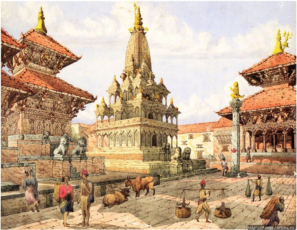 Акварель 1855 г. Кришна М