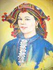 Картины художников в Ват Тхат Луанг