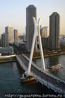 Мост Минато через реку Сумида, фото из интернета. Токио, Япония