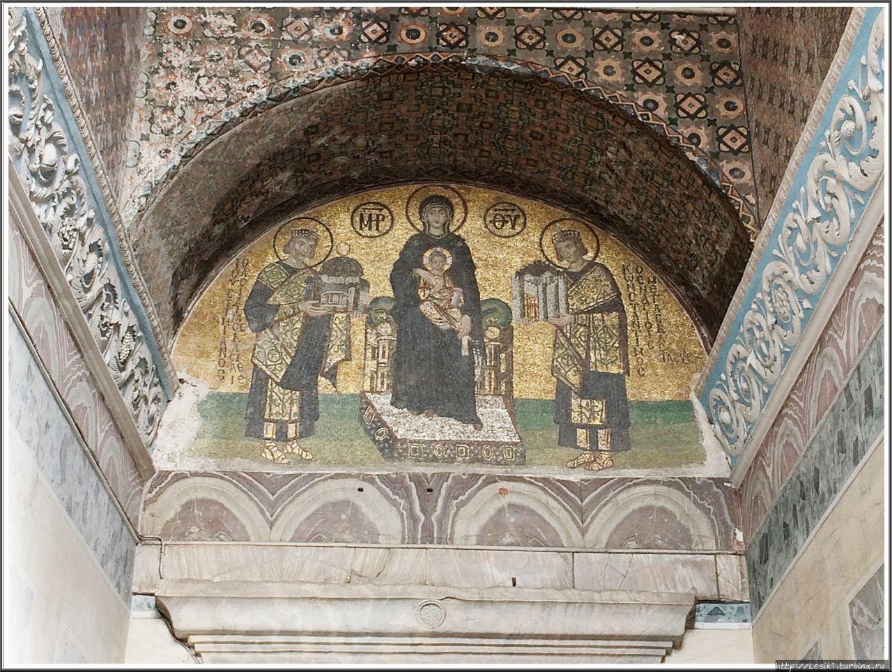 Мозаика X века. Богородиц