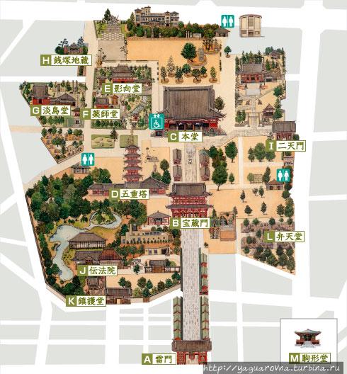 Схема расположения храмов