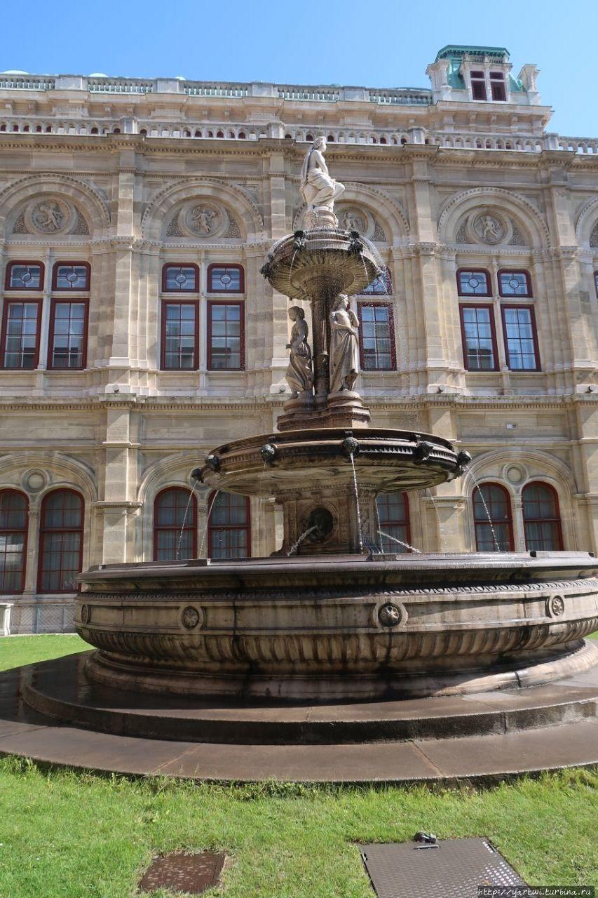 Фонтан возле Венской опер