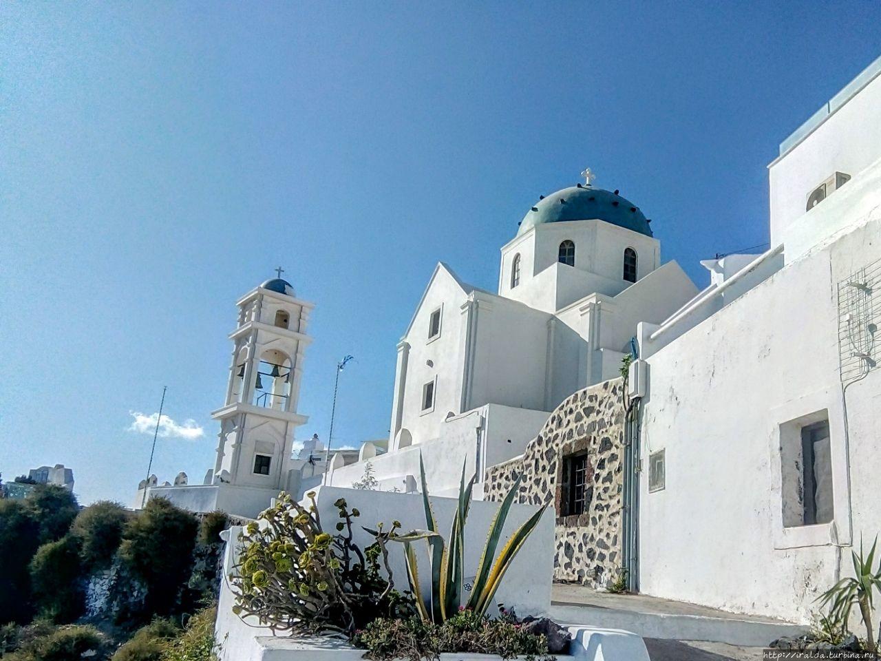 Фиростефани. Имеровигли. Скарос Имеровигли, остров Санторини, Греция