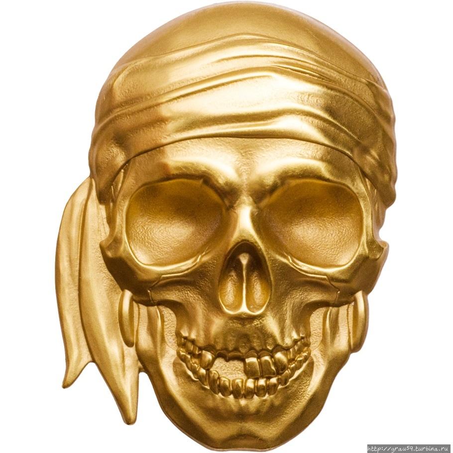 Картинки золотого черепа