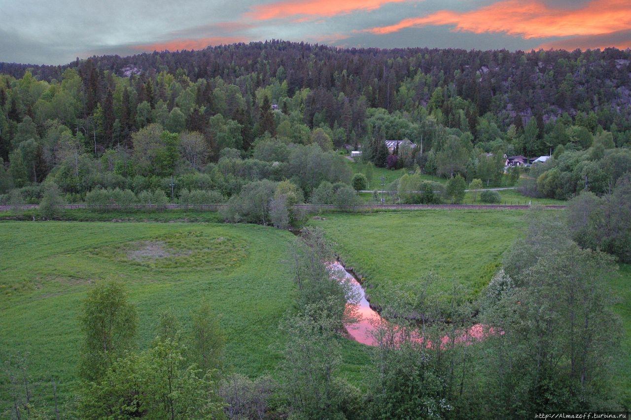 Река Скитегга  в Хеггедаль Хеггедаль, Норвегия