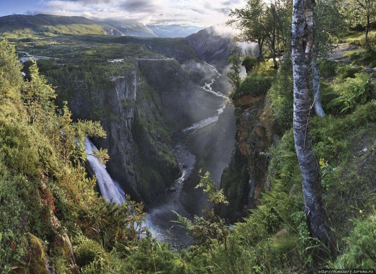 Самый высокий водопад Норвегии Вёрингсфоссен, Норвегия